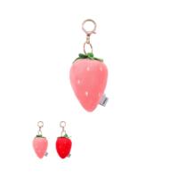 Strawberry Plush Key Ring