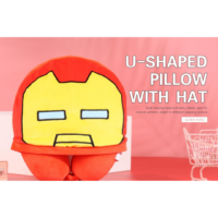Marvel Collection U-Shaped Pillow With Hat (Iron Man)