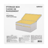 Storage Box With Lid-Large (Grey)