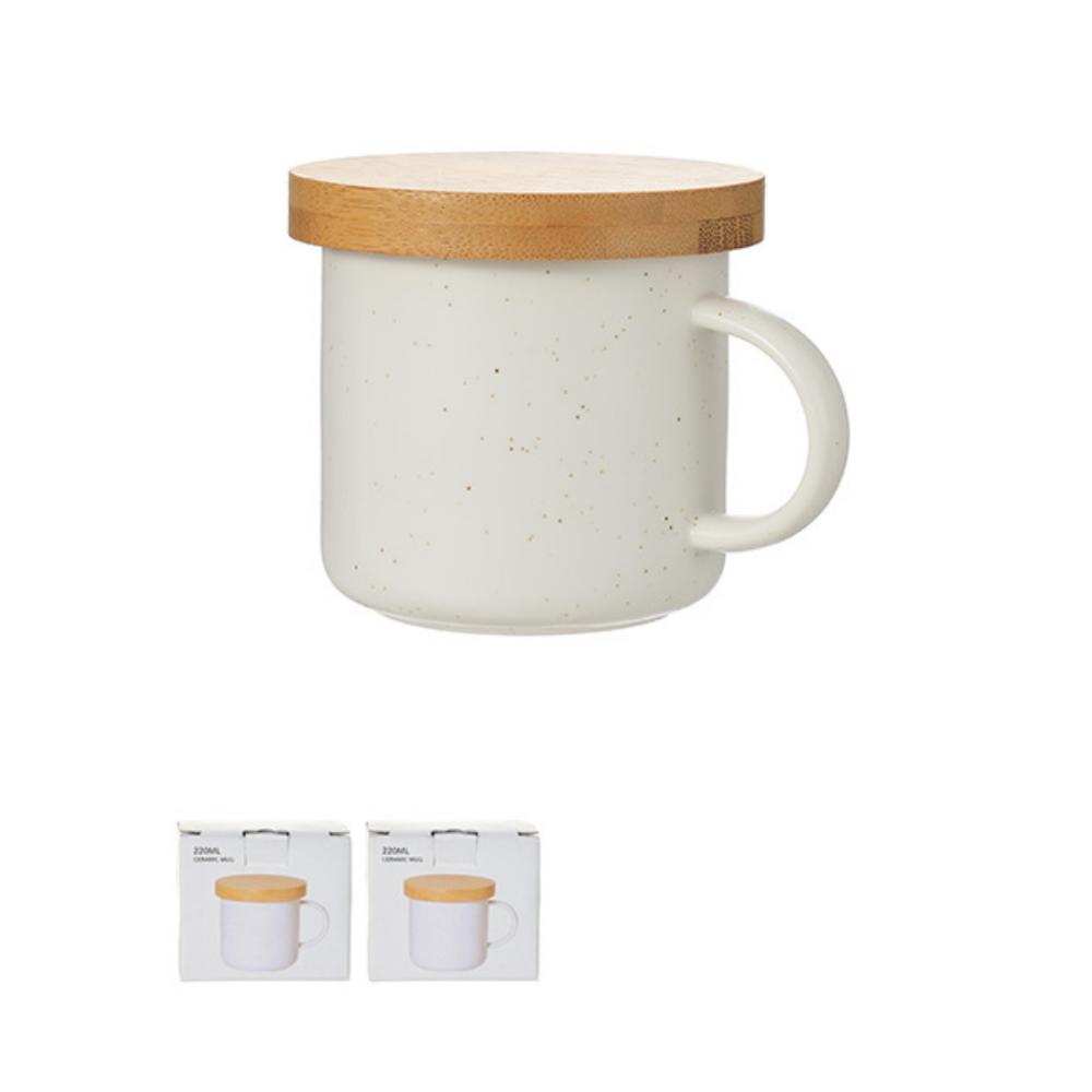 Solid Color Ceramic Mug 220ml (White)