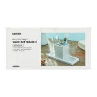 Relievo Patterns Tooth Mug + Toothbrush Holder Set (White)