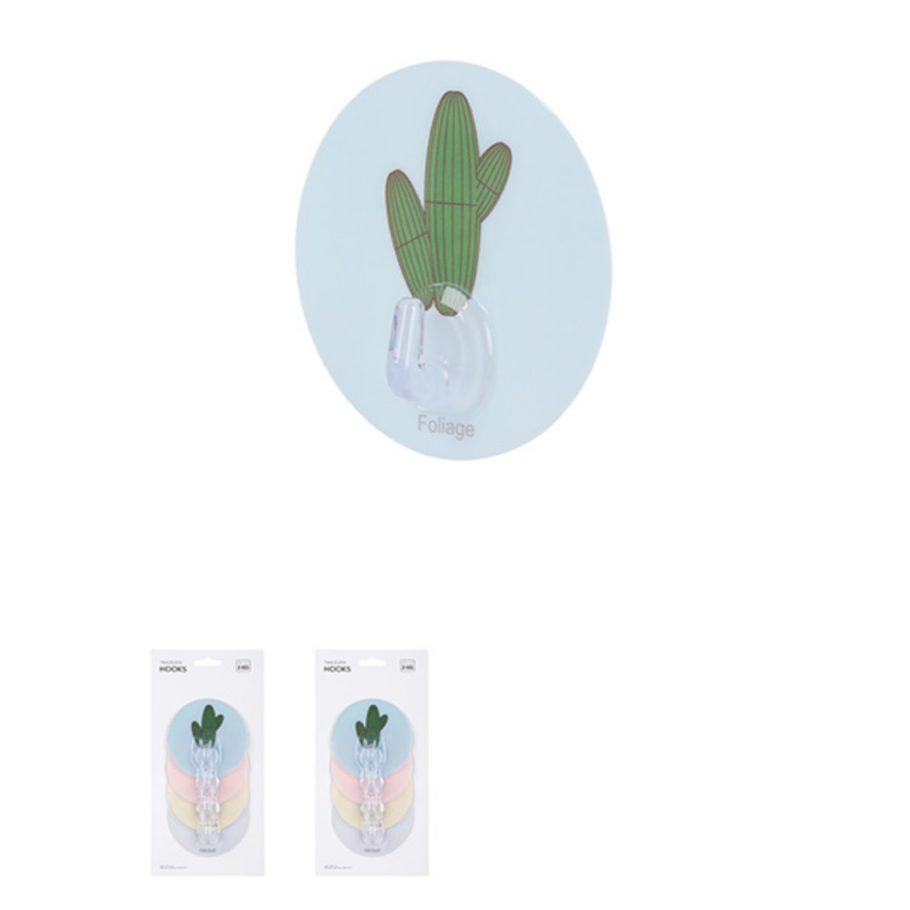 Cactus Traceless Hook 4 Pack