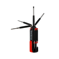 8 in 1 Multifunctional Screwdriver With Light (Red+Black)